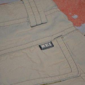 3138 Boys REI Convertible Cargo Pants Shorts Tan